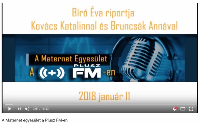 Maternet a Plusz FMen
